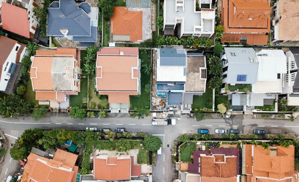 Home Block Aerial Photo